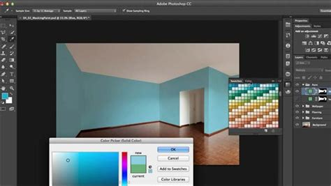 creating  living room composite  photoshop