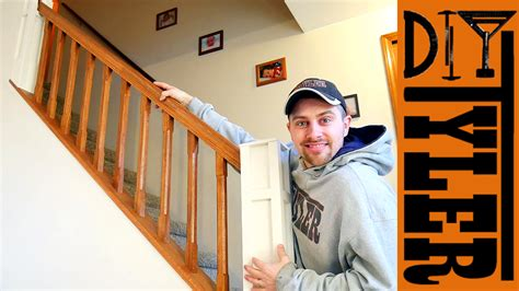 build  stair railing    wall diytyler