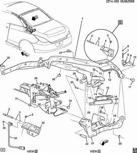 Pontiac G6 Folding Top Mechanism  Front Linkage