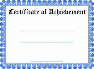Blank Certificate Template Free  U2013 Printable Birthday