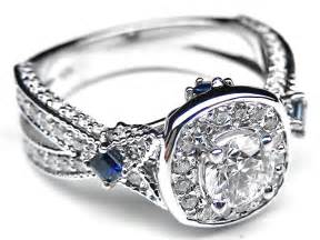 blue sapphire engagement rings white gold engagement ring halo laced engagement ring blue sapphire accents in 14k white gold es987