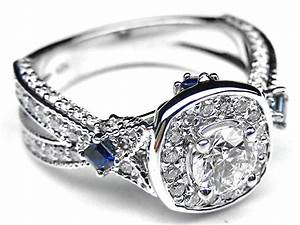 square diamond and sapphire engagement rings engagement With blue sapphire and diamond wedding rings