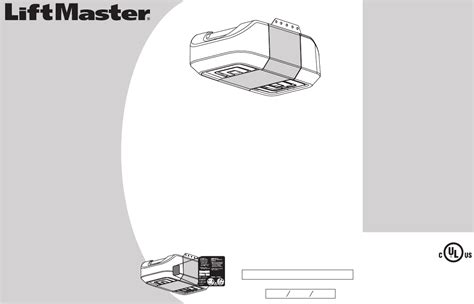 liftmaster garage door opener manual liftmaster 8360 chain drive garage door opener