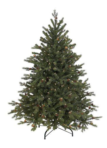4 5 pre lit hunter fir full artificial christmas tree