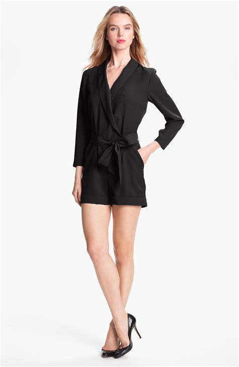wrap jumpsuit ted baker faux wrap jumpsuit exclusive in black lyst