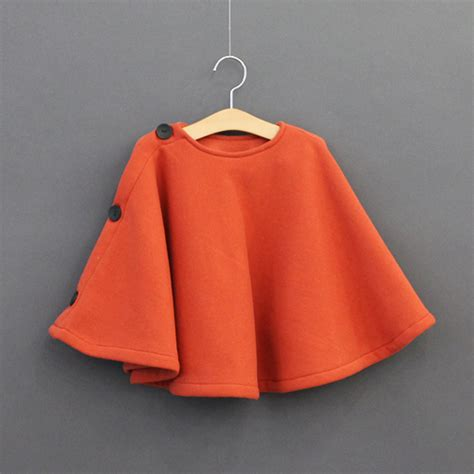jany childrens thick button  poncho kstylick