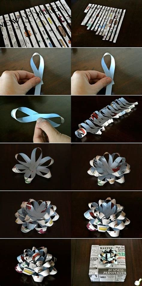 how to make a gift bow make a gift bow out of any paper diy pinterest