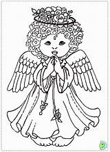 Coloring Angel Christmas Pages Colouring Popular sketch template