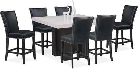 Counter Height Dining Room Tables by Artemis Counter Height Dining Table And 6 Upholstered