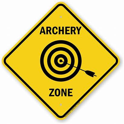 Archery Sign Zone Caution Signs Shooting Target