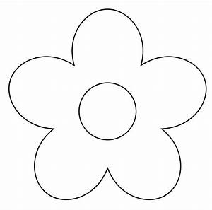 Simple Flower Clipart Black And White | Clipart Panda ...
