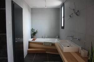 aide idee salle de bain avec carrelage anthracite 14 With meuble cuisine couleur taupe 7 carrelage sol salle de bain gris clair