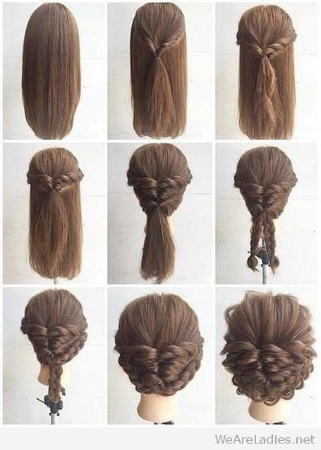 fashionable braid hairstyle tutorial for shoulder length