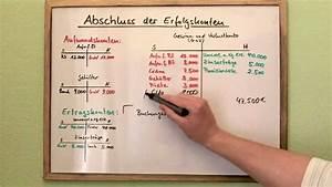 G Und V Rechnung : erfolgskonten abschlie en guv teil 2 youtube ~ Themetempest.com Abrechnung