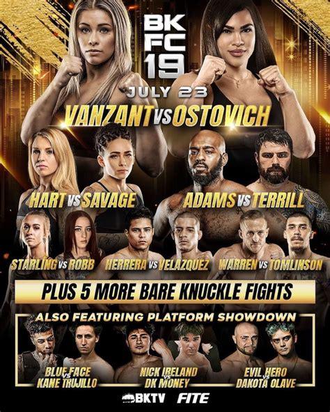 Rachael ostovich in the main event. BKFC 19 fight card: Arnold Adams faces Mick Terrill, plus more join VanZant vs Ostovich - FIGHTMAG