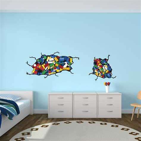 Lego Bedroom Wall Decals by Wall Stickers For Bedrooms With Lego Inspired Wall