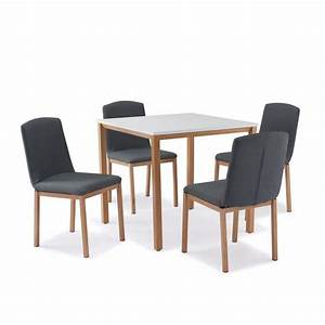 TABLE CARRE 4 CHAISES SCANDINAVE Achat Vente Table