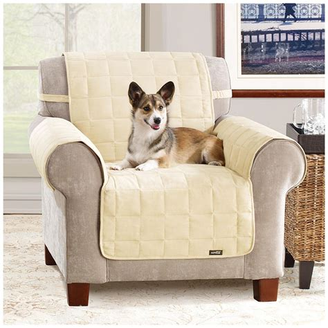 waterproof covers for pets sure fit 174 waterproof quilted suede chair pet cover