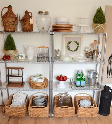 Stainless Steel Kitchen Wire Shelving Units With Rattan
