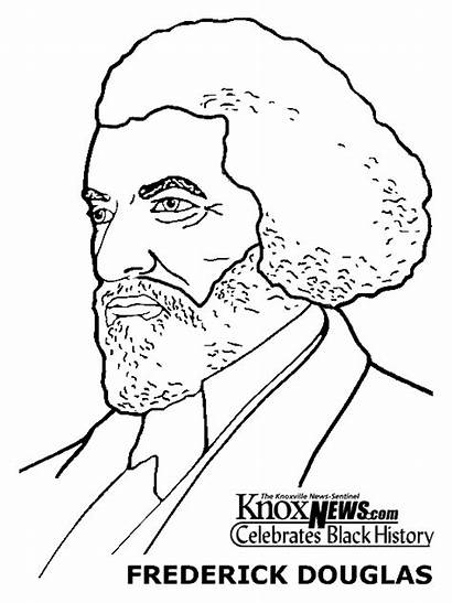 Coloring Printable History Month Frederick Douglass African