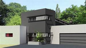 maison contemporaine a toit terrasse et monopente zinc a With ordinary photo maison toit plat 0 photo de maison design toit plat