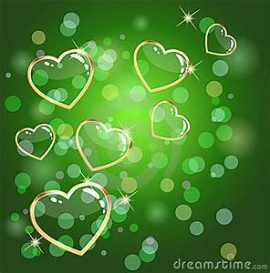 Green Heart Background Royalty Free Stock Image Image