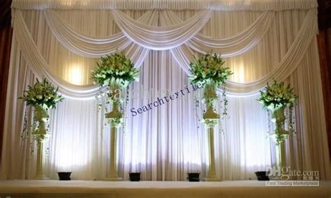 Top Sale Wedding Backdrop Curtain In White Color Stage