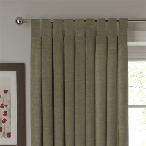 cashback b and q tab top unlined curtains linen effect
