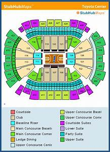 Toyota Center Seating Chart Pictures Directions And