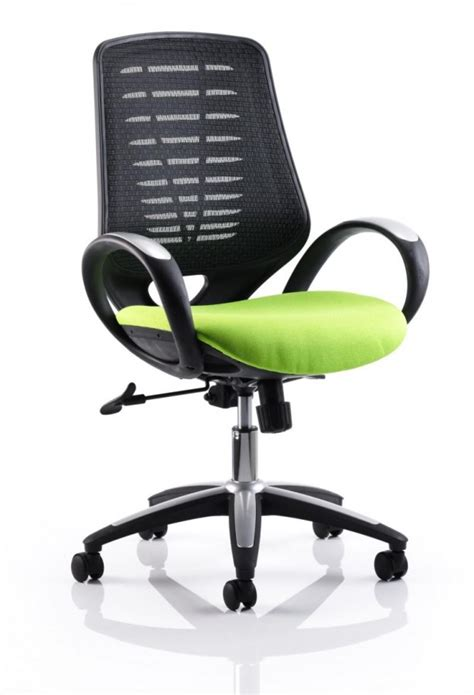 sprint mesh office chair in lime green