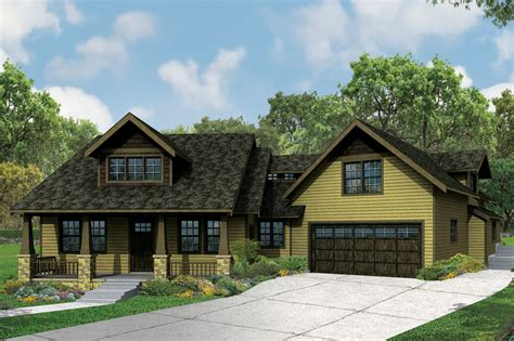 craftsman houseplans this craftsman bungalow is big on charm and features
