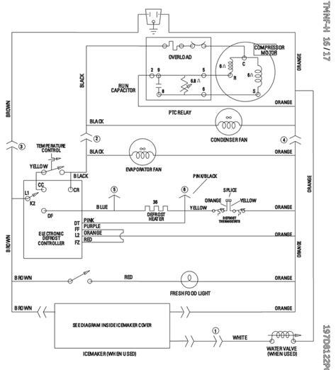 wiring diagram  ge refrigerator wiring diagram