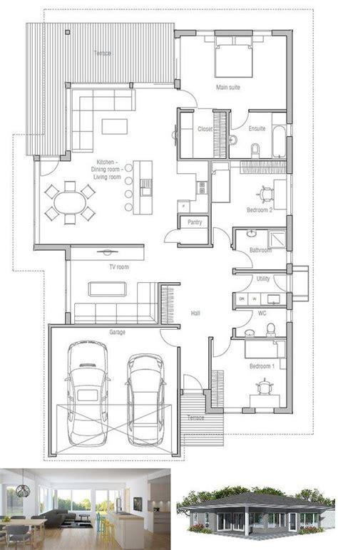 modern house plan  narrow lot house plan  concepthomecom home plans single story
