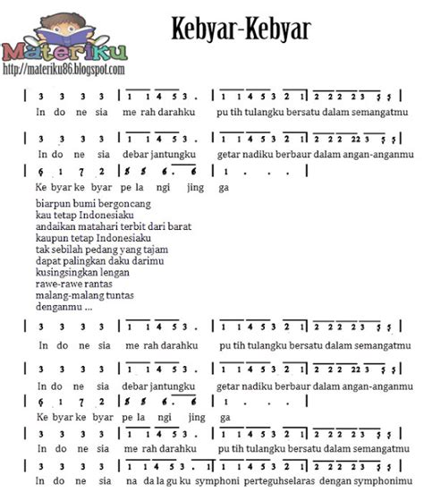 not halo halo bandung kumpulan not angka lagu wajib nasional lengkap materiku