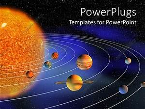 Powerpoint Template  Diagram Representing Planets Of The Solar System On The Background