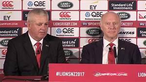 Warren Gatland's first press conference as 2017 Head Coach ...