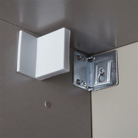 fixation meuble cuisine haut equerre de fixation murale multikaz blanc h 5 x l 4 5 x p