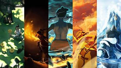 Airbender Avatar Last Collage Panels Backgrounds Wallpapers