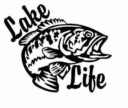 Lake Decal Decals Fishing Fish Vinyl Salt