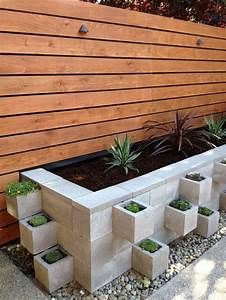 Modern, Industrial, Cinderblock, Planter, Bed, U2014, Homebnc
