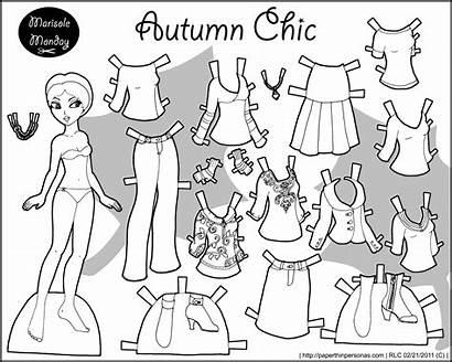 Marisole Paper Printable Dolls Friends Paperthinpersonas Autumn