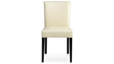 crate and barrel lowe leather side chair lowe ivory leather dining chair crate and barrel