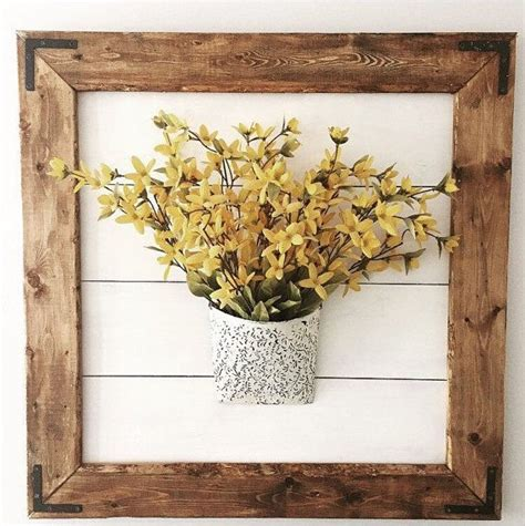 Framed Shiplap by Large Framed Shiplap Wall Decor Sign Flower Wall Decor