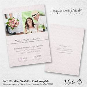 5x7 wedding invitation template photoshop wedding With free wedding invitation template 5x7
