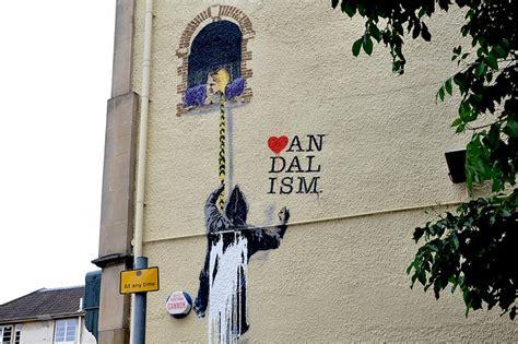 nick walker love vandalism stencil  stmichaels hill
