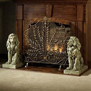 Vintage Fireplace Screens with Doors for Family Room