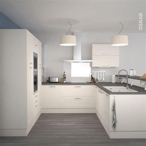 cuisine grise plan de travail blanc cuisine équipée ivoire bois moderne filipen ivoire mat collations cuisines et cuisine