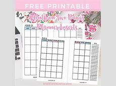 Free Undated Month on Two Pages Planner Inserts Wendaful