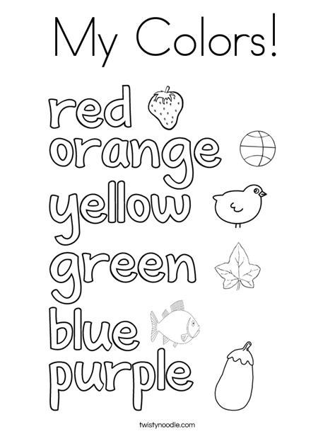 colors coloring page twisty noodle