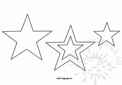 Printable Star Template 4th July Coloring Coloringpage